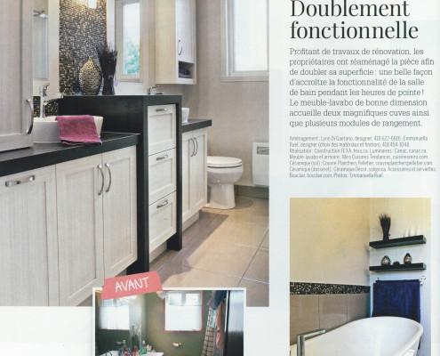 Parution FEXA, Je décore Hors Série Salles de bains Avant Après, deco salle de bain, amenagement salle de bain, rangement salle de bain, rénovation salle de bain