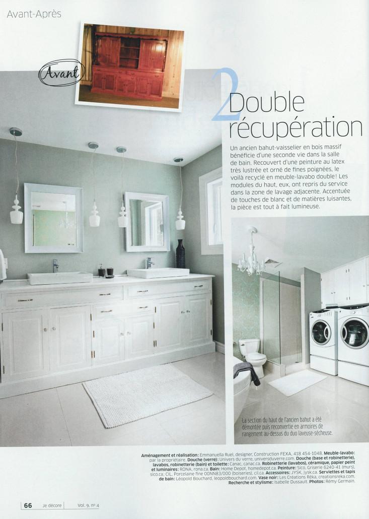 Fexa r novation de salle de bain armoire de cuisine et - Je decore salle de bain ...