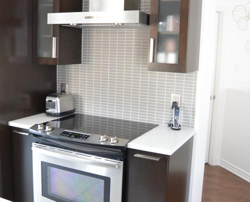 """Dosseret cuisine mosaique céramique grise 1""""x3"""", FEXA rénovation"""