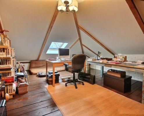 Rénovation maison grenier, puit de lumière, espace bureau, augmentation espace habitable, aire ouverte, style ancestral, Fexa rénovation