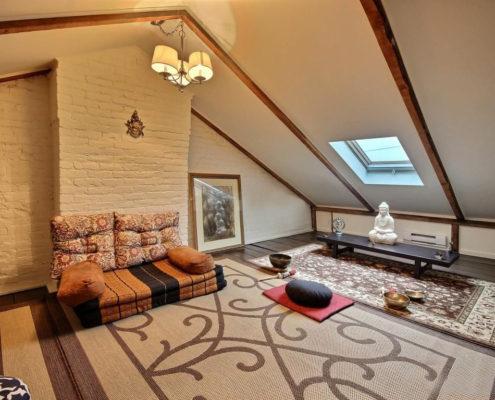 Rénovation maison grenier, puit de lumière, augmentation espace habitable, aire ouverte, décor rustique ancestral, Fexa rénovation