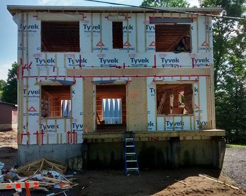 Construction multiplex, structure murs extérieurs, constructeur maison neuve, érection des murs extérieurs, FEXA Construction, Entrepreneur Général