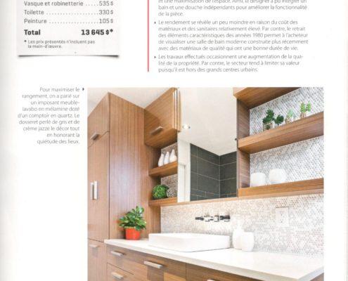 Parutions FEXA, Déco Réno Salle de bain, deco salle de bain, meuble lavabo sur mesure.