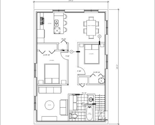Construction maison neuve, construction multiplex, Duplex à vendre rue Court-Métrage à Québec, Clef en main, plan d'aménagement sous-sol, FEXA Construction, Entrepreneur Général
