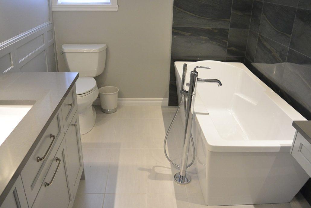 Fexa r novation de salle de bain armoire de cuisine et for Hauteur comptoir salle de bain